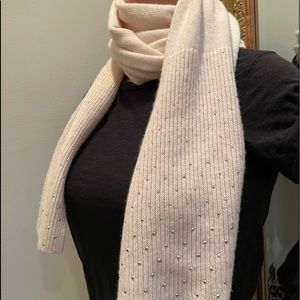 J CREW |  cashmere skinny scarf with beaded detail